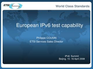 European IPv6 test capability