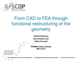 From CAD to FEA through functional  restructuring of the geometry