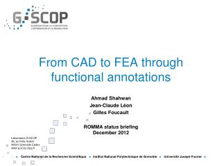 From CAD to FEA through functional annotations