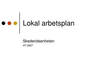 Lokal arbetsplan