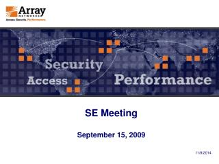 SE Meeting September 15, 2009