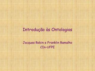 Introdu��o �s Ontologias