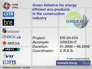 Green Initiative for energy efficient eco-products        in the construction industry
