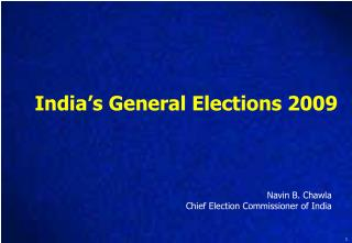 India�s General Elections 2009