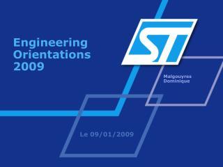 Engineering Orientations 2009