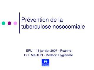 Prévention de la  tuberculose nosocomiale