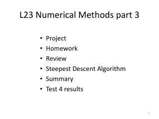 L23 Numerical Methods part 3