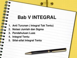 Bab  V INTEGRAL