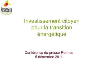 Investissement citoyen  pour la transition �nerg�tique