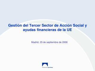 Gestión del Tercer Sector de Acción Social y ayudas financieras de la UE