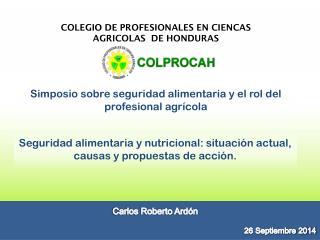 COLEGIO DE PROFESIONALES EN CIENCAS AGRICOLAS  DE HONDURAS