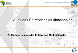 Audit des Entreprises Multinationales