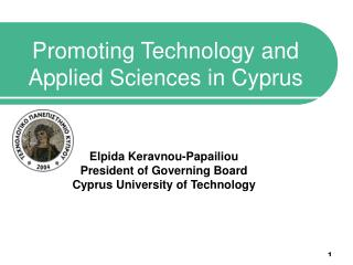 Promoting Technology and Applied Sciences in Cyprus