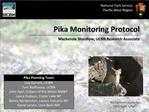 Pika Monitoring Protocol