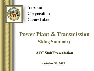 Arizona  Corporation  Commission