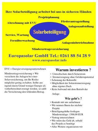EVU = Energieversorgungsunternehmen