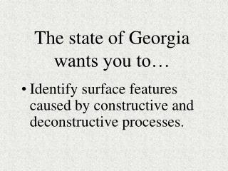 The state of Georgia wants you to