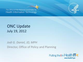 ONC Update July 19, 2012