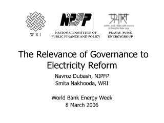 The Relevance of Governance to Electricity Reform