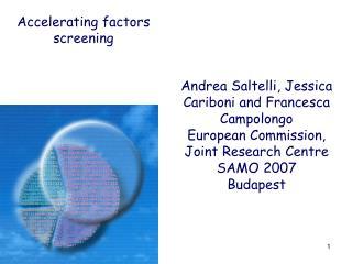 Andrea Saltelli, Jessica Cariboni and Francesca Campolongo