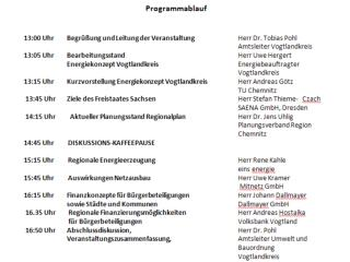 Bearbeitungsstand Energiekonzept  Vogtlandkreis
