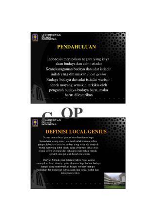 PENDAHULUAN Indonesia merupakan negara yang kaya akan budaya dan adat istiadat