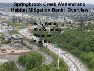 Springbrook Creek Wetland and Habitat Mitigation Bank:  Overview