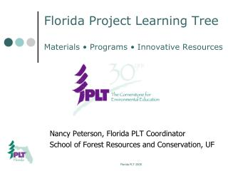 Florida Project Learning Tree Materials • Programs • Innovative Resources