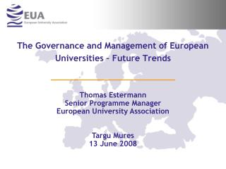 The Governance and Management of European Universities – Future Trends