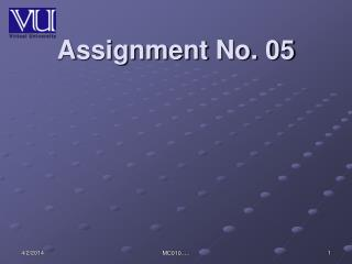 Assignment No. 05
