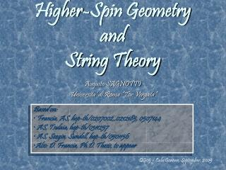 Higher-Spin Geometry and  String Theory