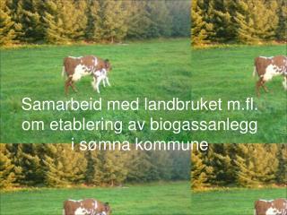 Samarbeid med landbruket m.fl. om etablering av biogassanlegg i sømna kommune
