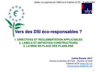Cathie-Rosalie JOLY Avocat au barreau de Paris - Docteur en droit Cabinet ULYS  ulys