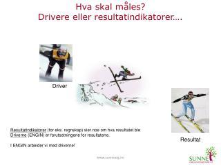 Hva skal måles? Drivere eller resultatindikatorer….