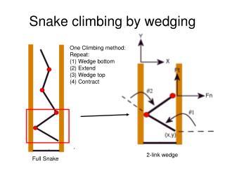 Snake climbing by wedging