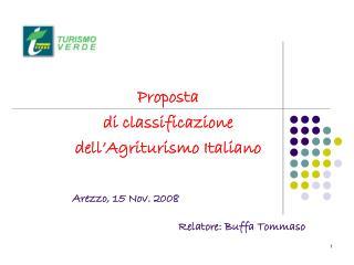 Proposta  di classificazione  dell'Agriturismo Italiano