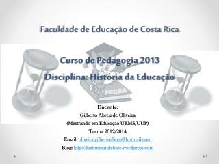 Faculdade de Educação de Costa Rica