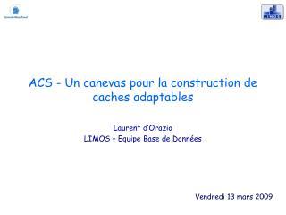 ACS - Un canevas pour la construction de caches adaptables