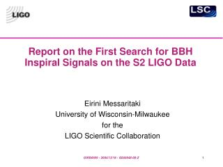 Report on the First Search for BBH Inspiral Signals on the S2 LIGO Data