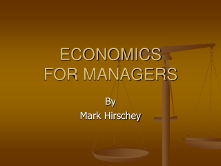 MANAGERIAL ECONOMICS 11th Edition