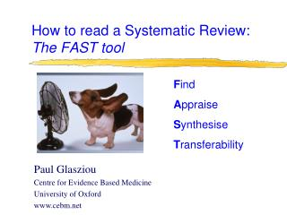 How to read a Systematic Review:  The FAST tool