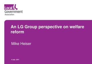 An LG Group perspective on welfare reform