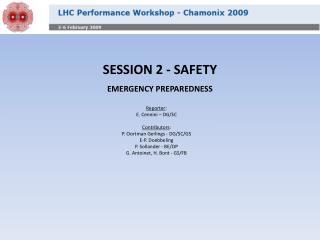 SESSION 2 - SAFETY