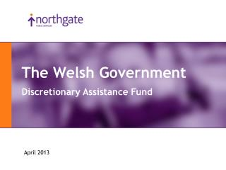 The Welsh Government Discretionary Assistance Fund