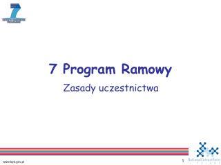 7 Program Ramowy