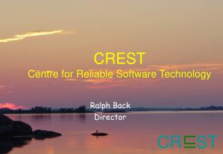 CREST  Centre for Reliable Software Technology