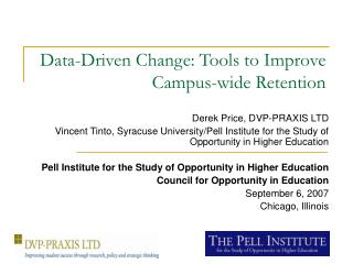 Data-Driven Change: Tools to Improve Campus-wide Retention