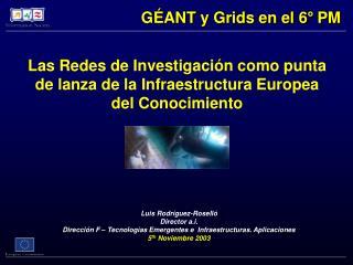 Las Redes de Investigación como punta de lanza de la Infraestructura Europea del Conocimiento