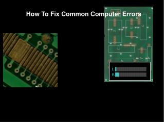How To Fix Common Computer Errors