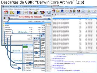"Descargas de GBIF: ""Darwin Core Archive"" (. zip )"